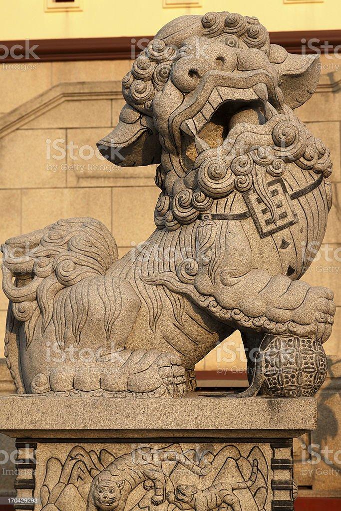 chinese lion stock photo