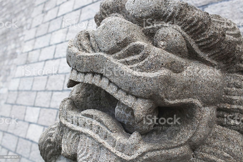 Chinese lion royalty-free stock photo