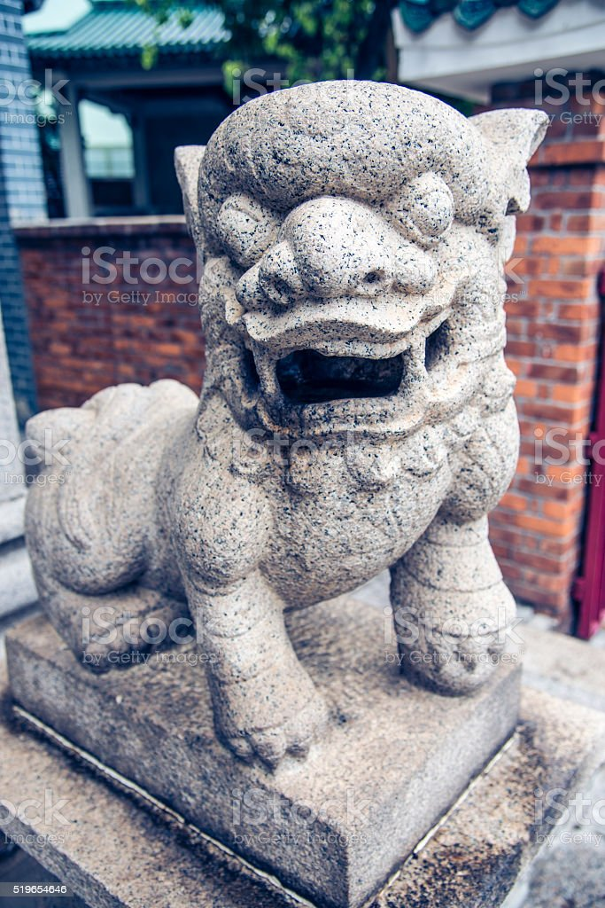 Chinese lion stock photo