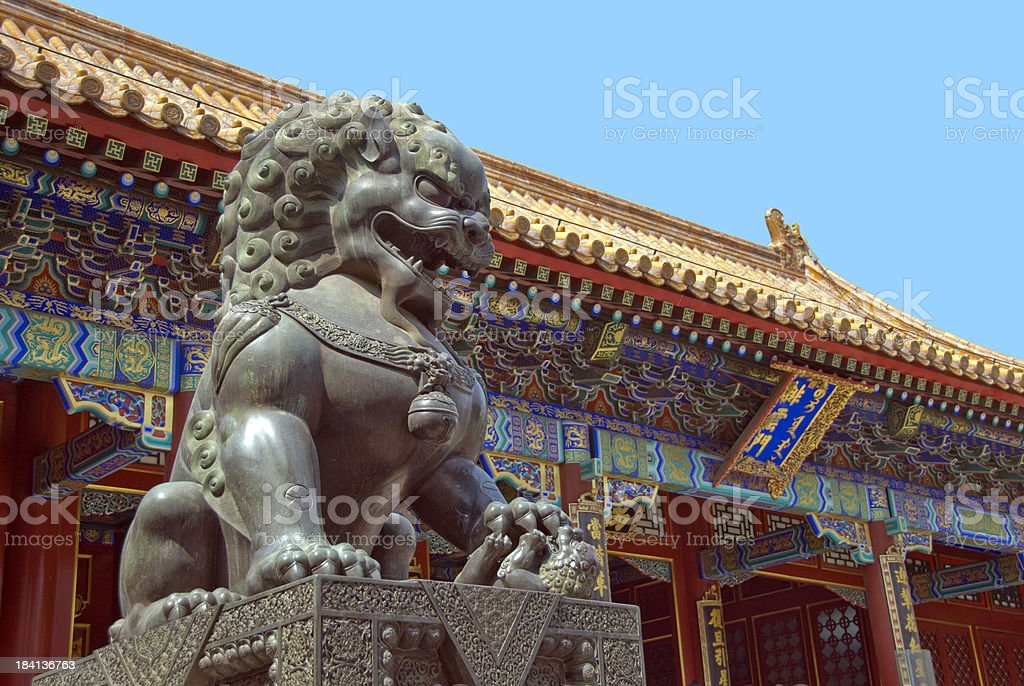 Chinese Lion Statue royalty-free stock photo