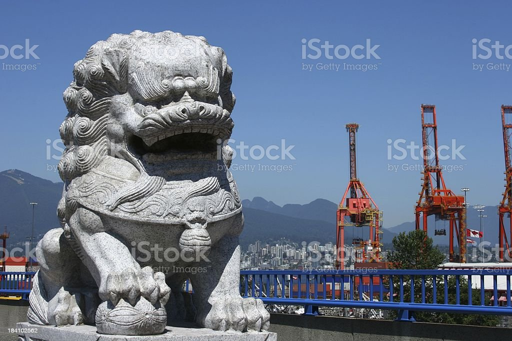 Chinese Lions In Vancouver stock photo