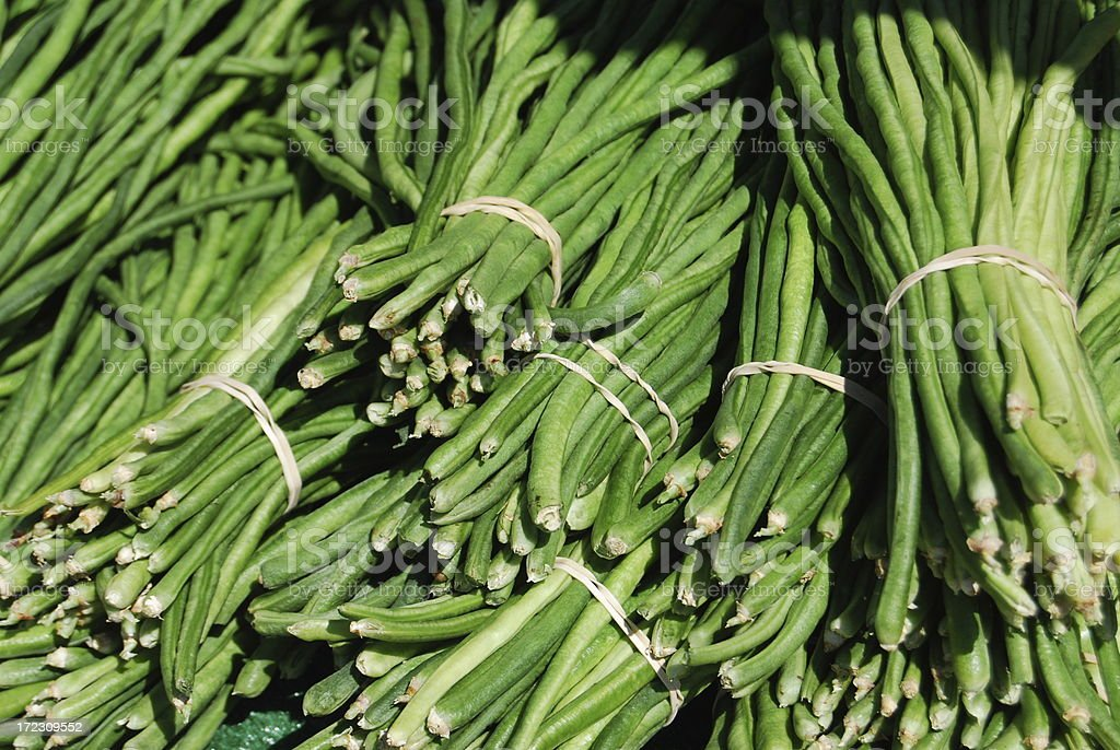 Chinese Long Beans royalty-free stock photo