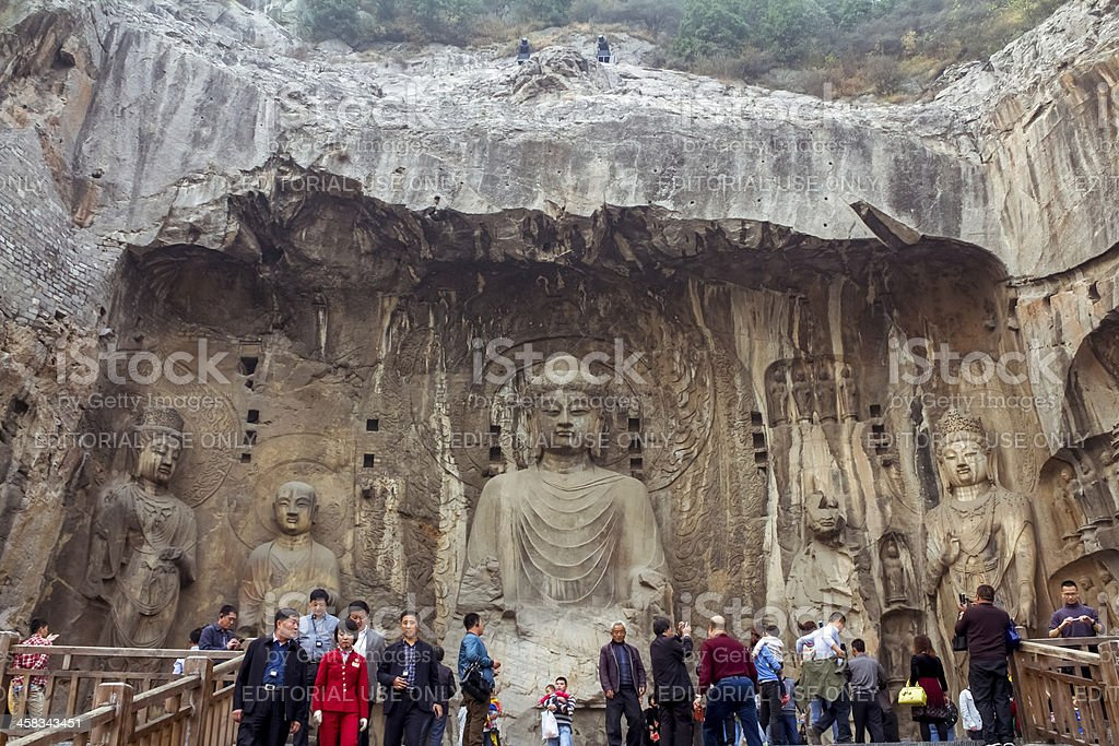 Chinese Longmen grottoes royalty-free stock photo