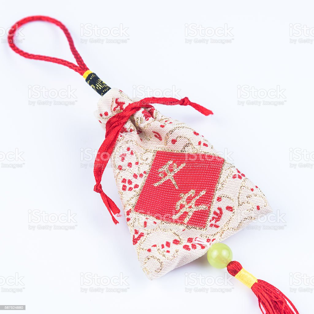 Chinese  lucky bag stock photo