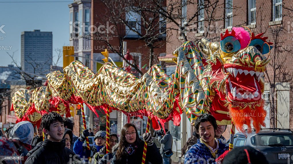 Chinese Lunar New Year Dragon stock photo