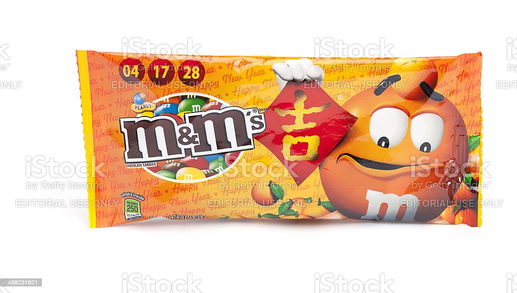 Chinese Lunar New Year M&M's royalty-free stock photo