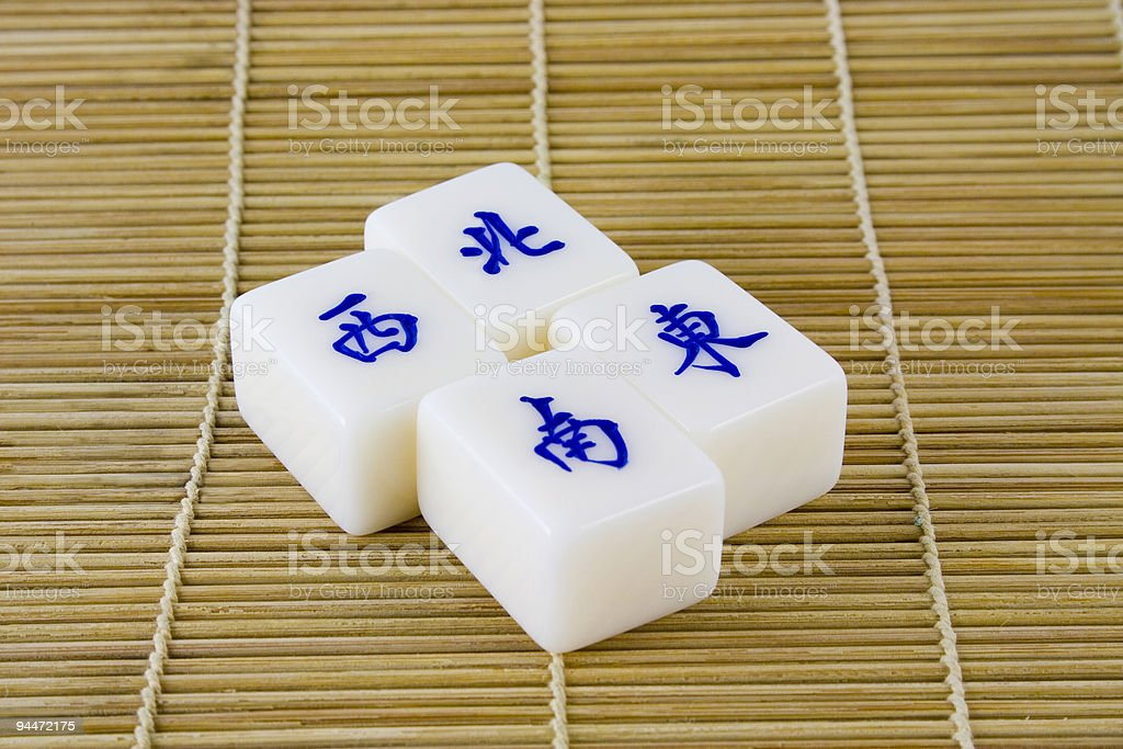 Chinese mahjong tiles royalty-free stock photo