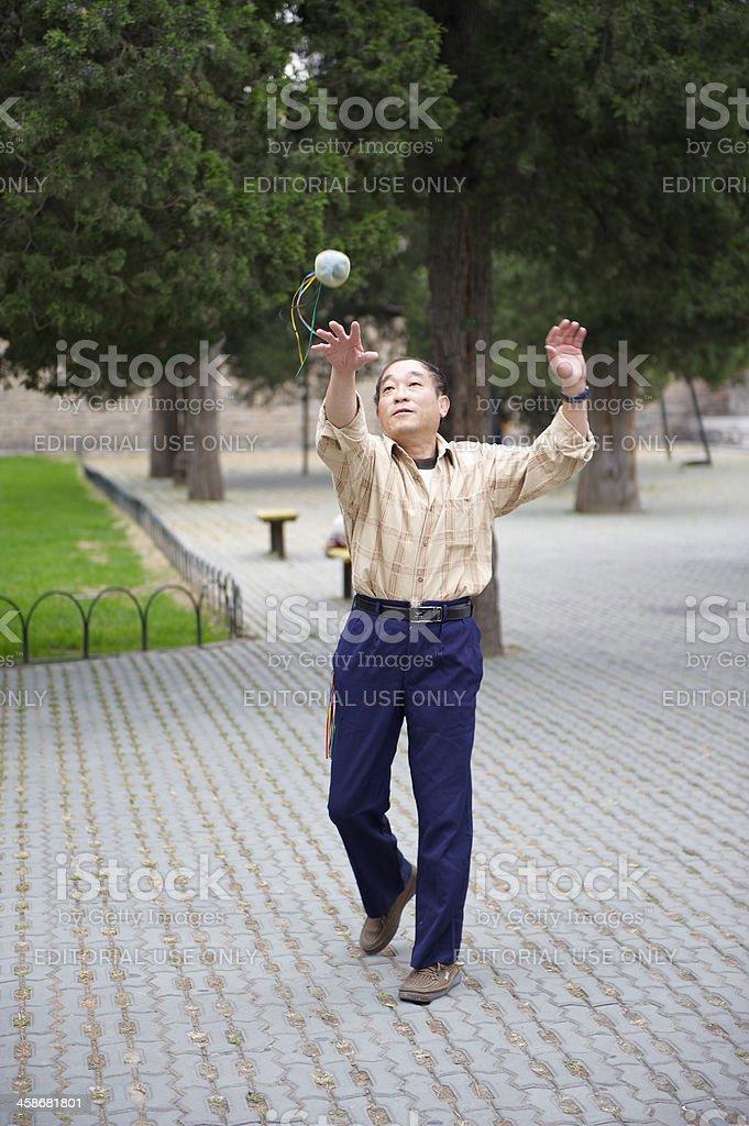 Chinese Man Juggling stock photo