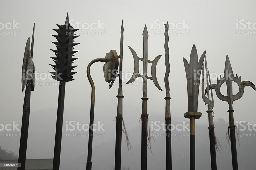 Chinese martial weapon stock photo