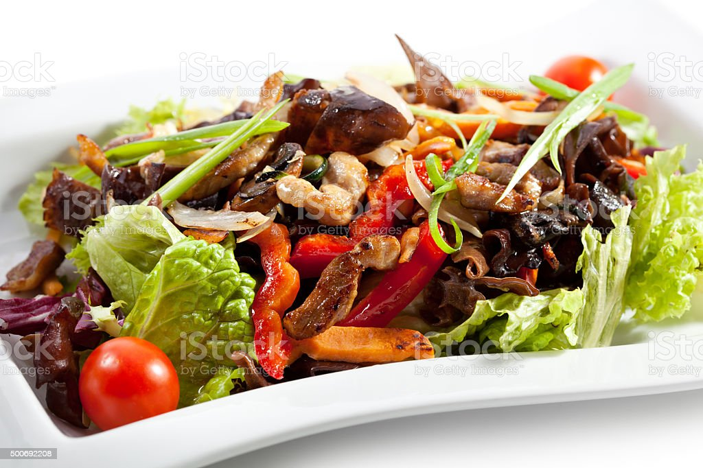 Chinese - Meat with Black Fungus stock photo
