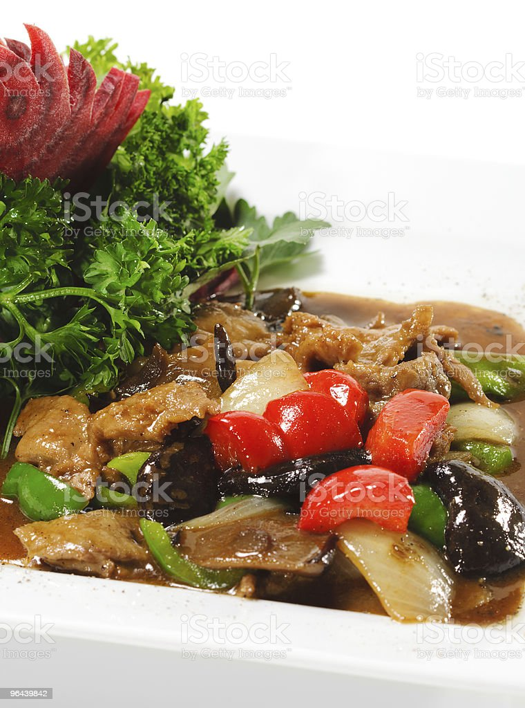 Chinese - Meat with Black Fungus royalty-free stock photo