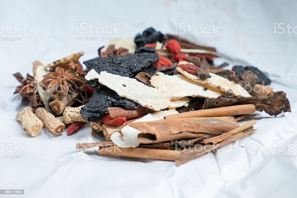 Chinese medical herb stock photo