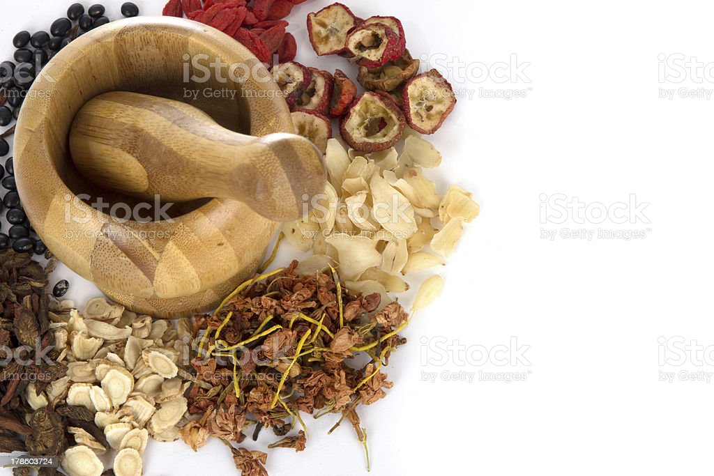 Chinese medicine and its facility stock photo