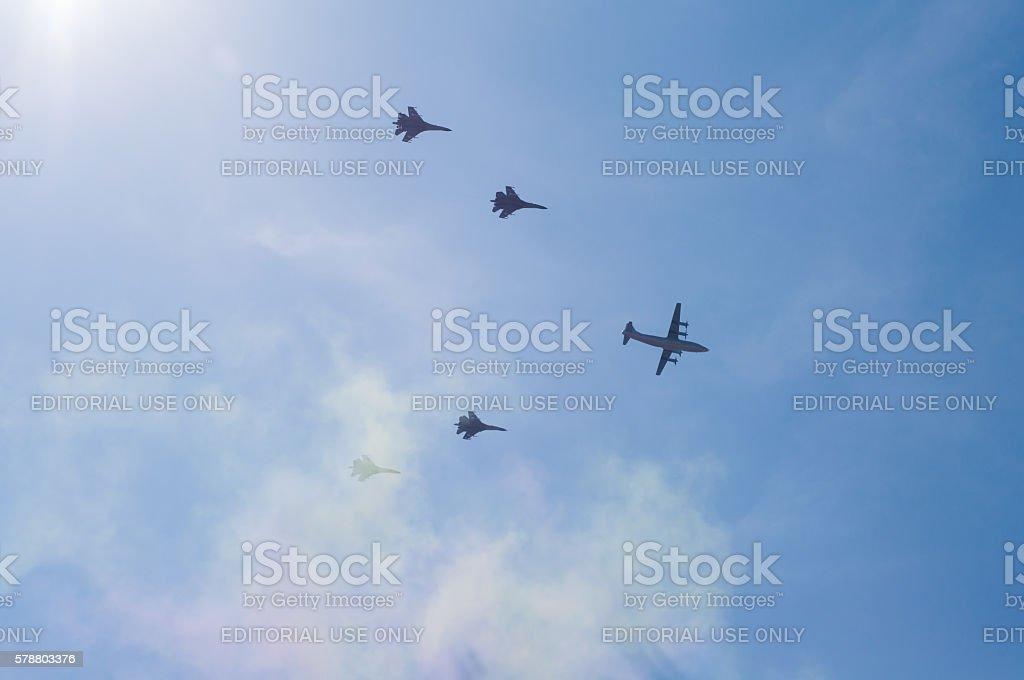 chinese military exercise stock photo