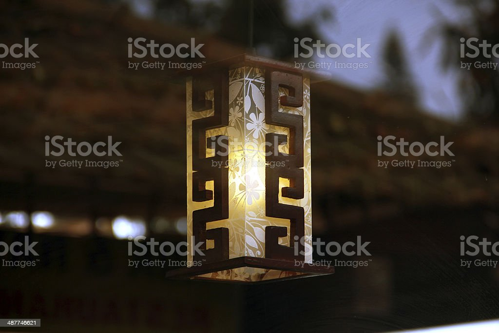 Chinese modern lamp stock photo