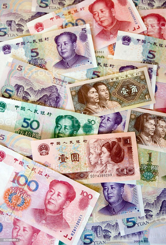 Chinese Money - Banknotes stock photo