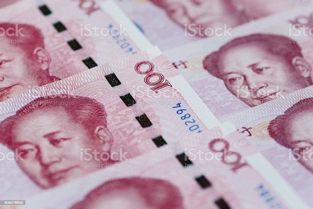Chinese money, Renminbi stock photo