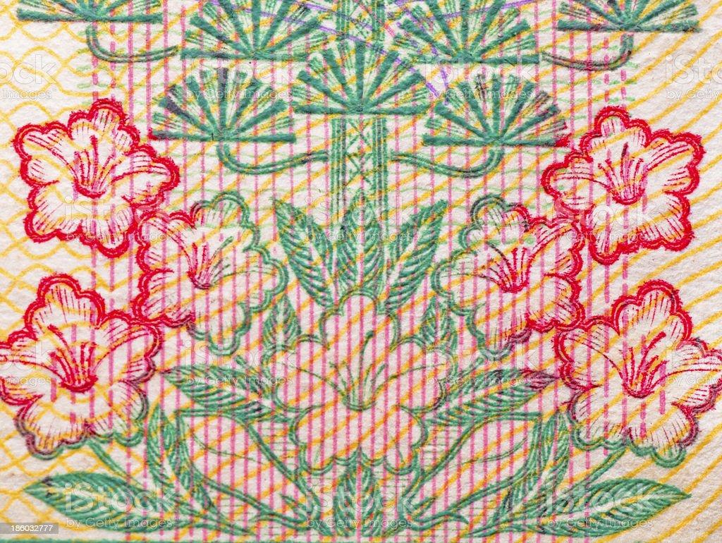 chinese money rmb background flower macro texture stock photo