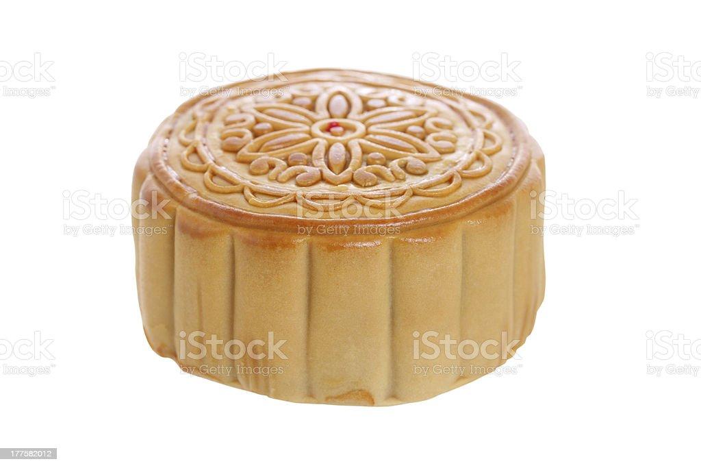 Chinese Mooncake on white background royalty-free stock photo