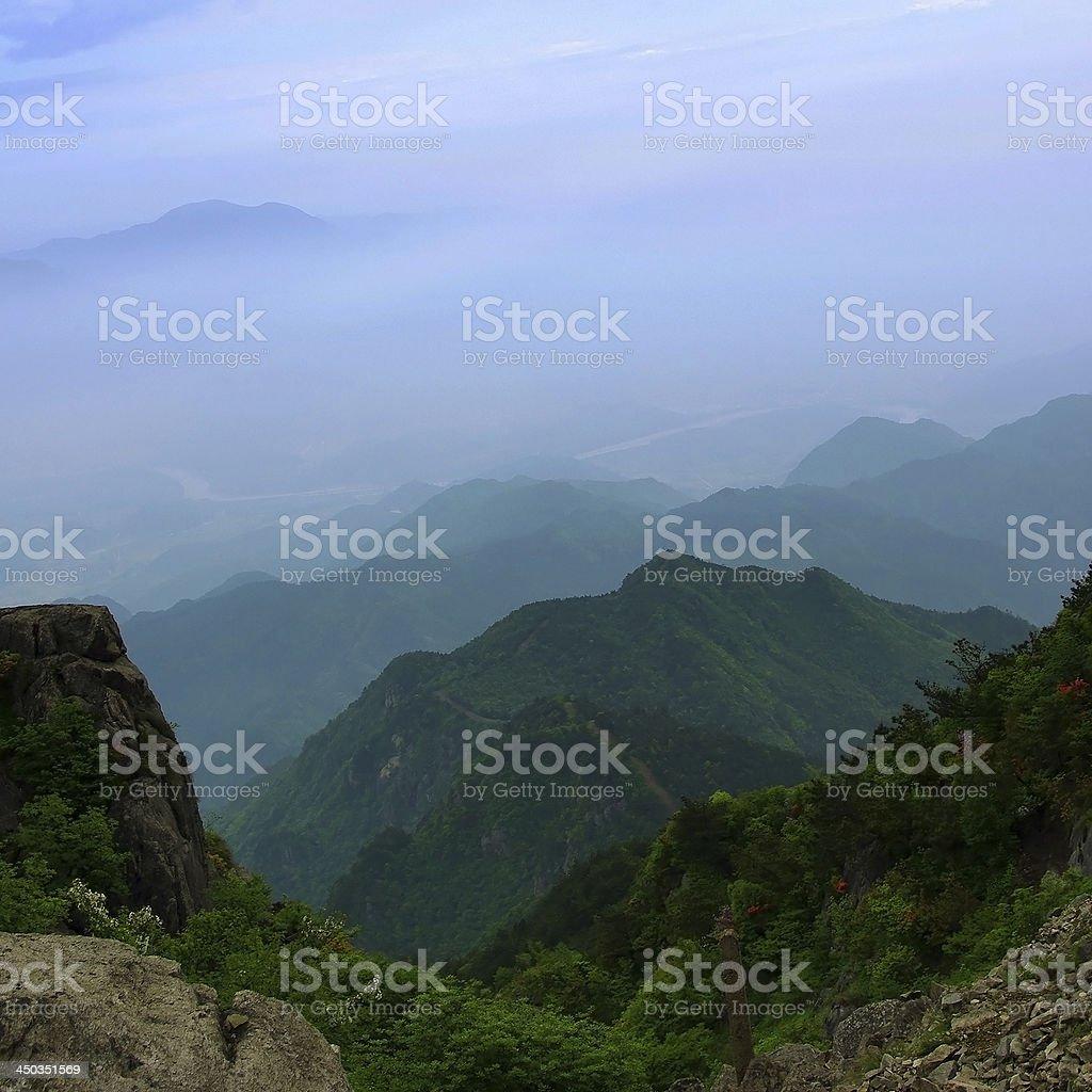 Chinese mountain scenery stock photo