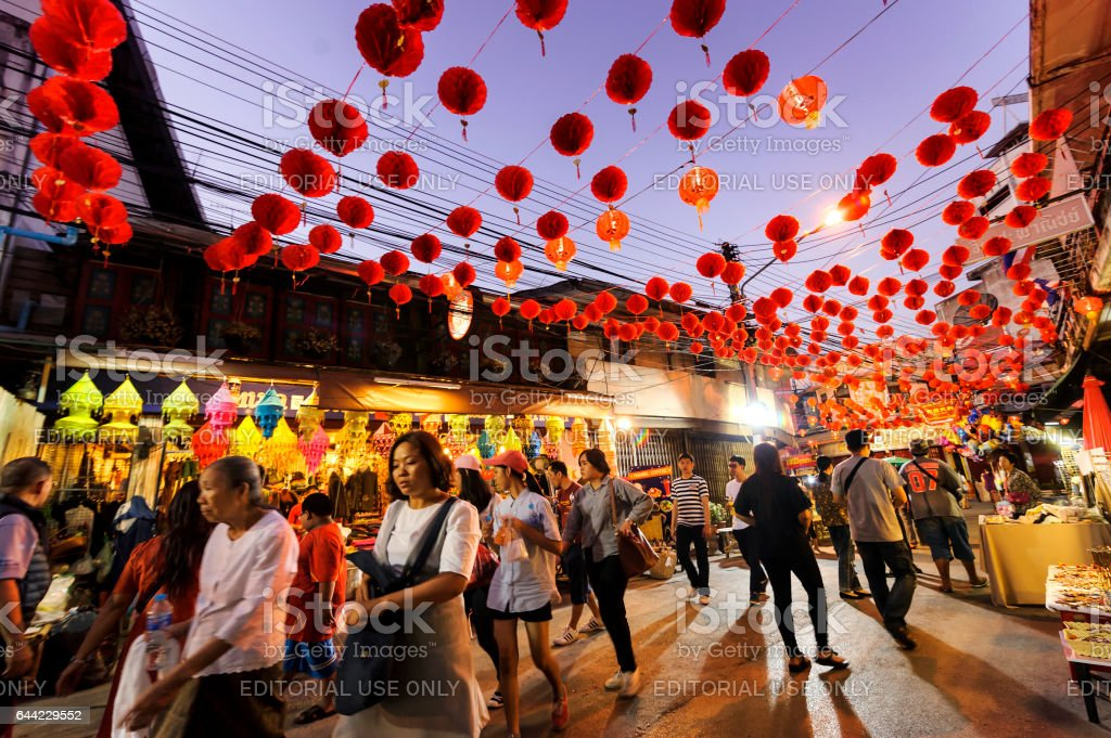Chinese New Year 2017 in Thailand. stock photo