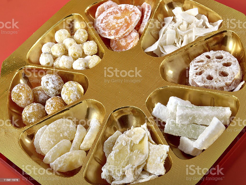 Chinese New Year Candy royalty-free stock photo