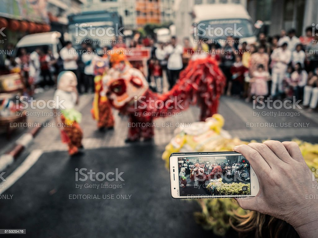 Chinese New Year celebration Chinatown Bangkok stock photo