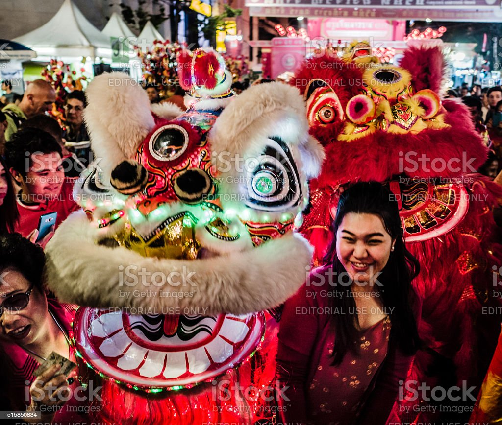 Chinese New Year Chinatown Bangkok stock photo