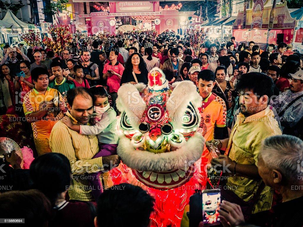 Chinese New Year Chinatown Bangkok stock photo