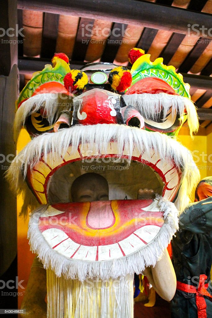 Chinese New Year Dragon Costume. photo libre de droits