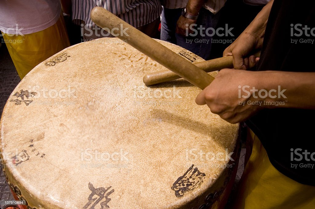 Chinese new year drums stock photo