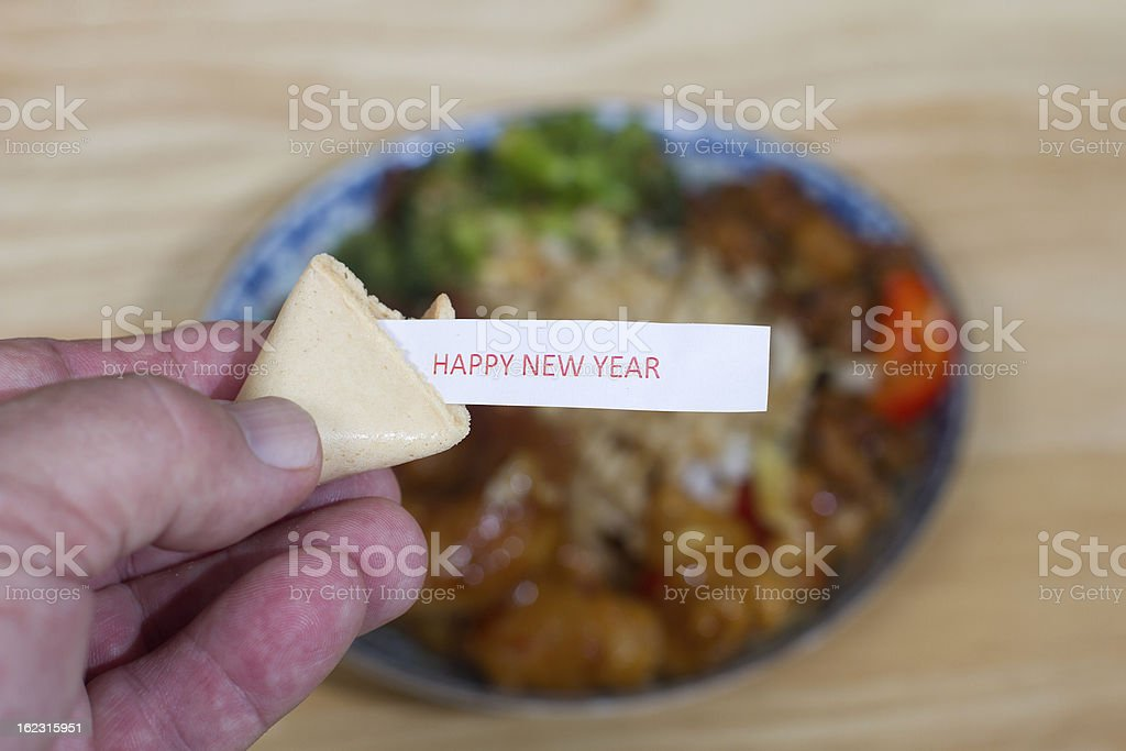 Chinese New Year Fortune Cookie royalty-free stock photo