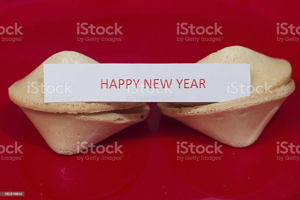 Chinese New Year Fortune Cookies royalty-free stock photo