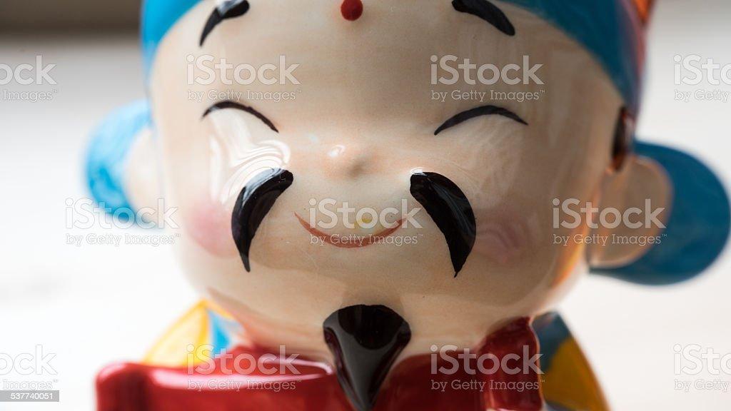 Chinese New Year God of Prosperity doll or deity figurine stock photo