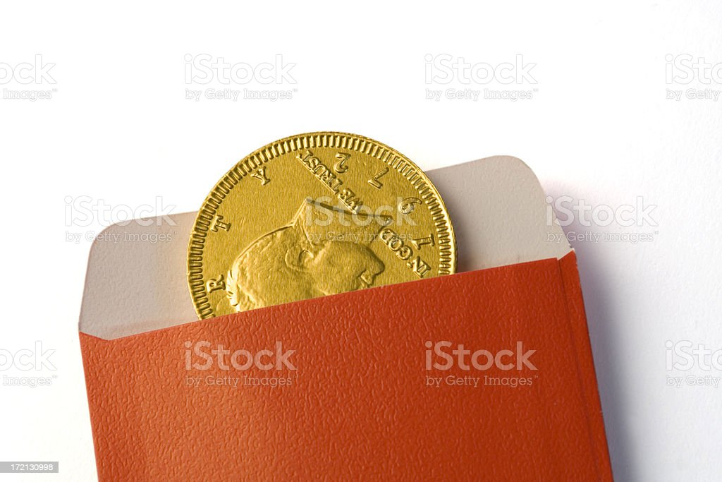 Chinese New Year Gold Coin royalty-free stock photo