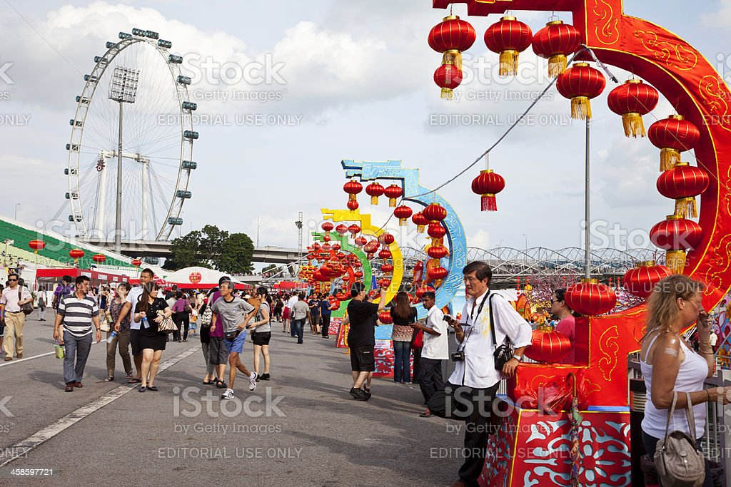 Chinese New Year in Singapore. royalty-free stock photo
