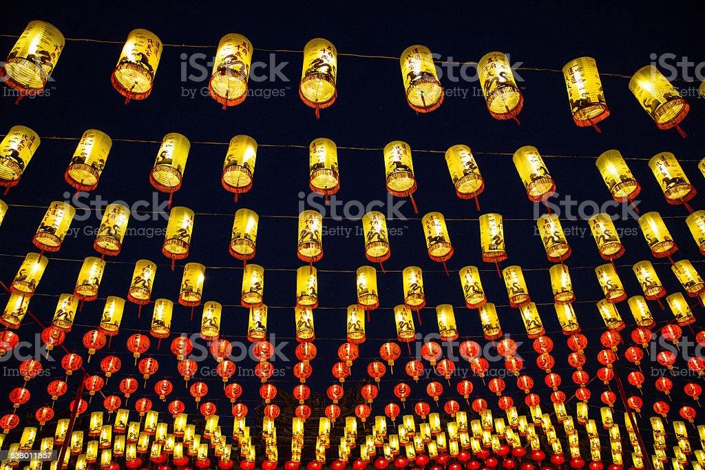Chinese New Year, Lanterns 2015 stock photo