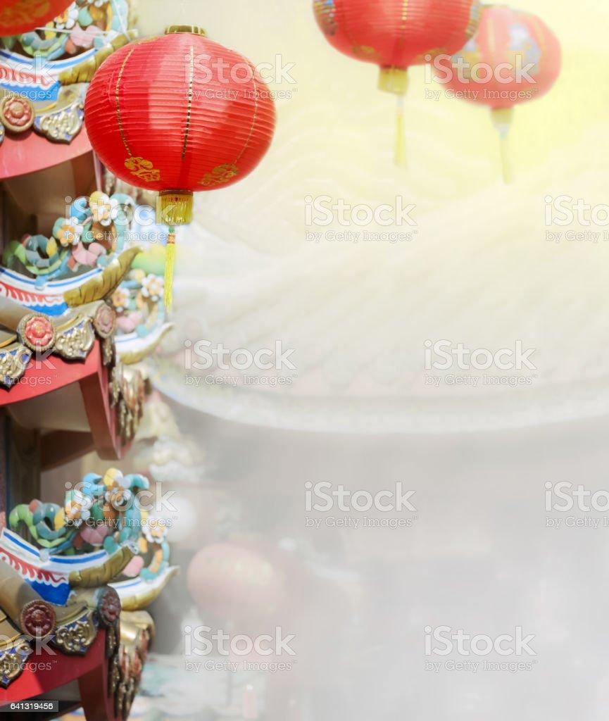 Chinese new year lanterns in china town. stock photo
