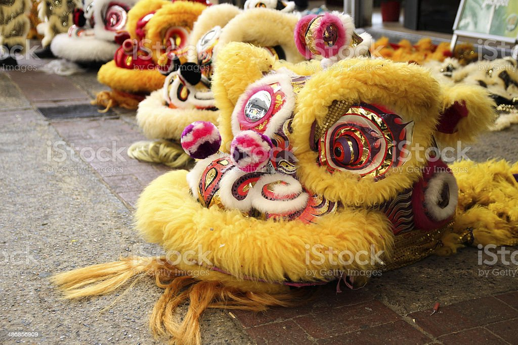 Chinese New Year - Lion Head stock photo