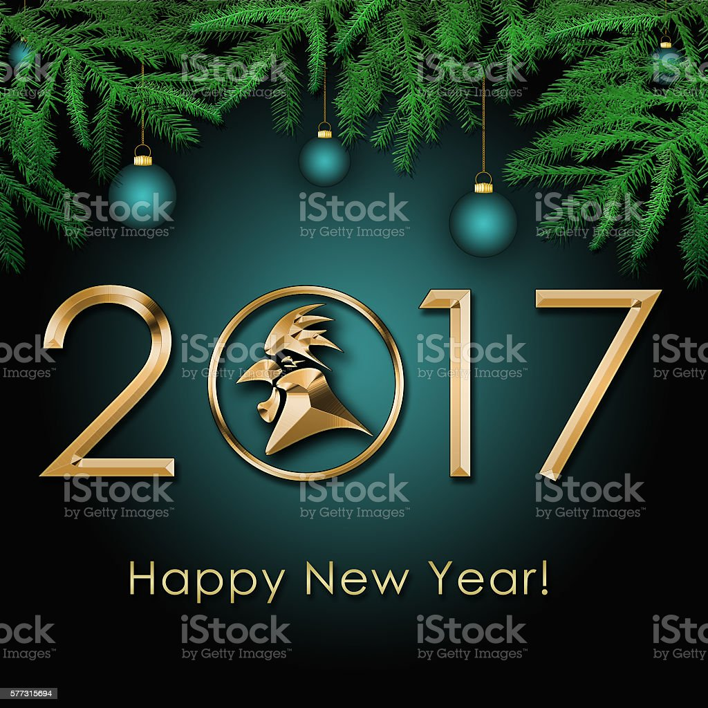 2017 Chinese New Year of the Rooster stock photo