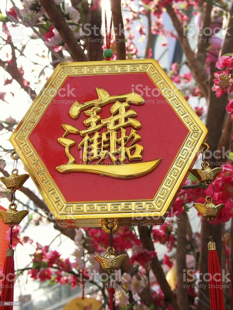 Chinese New Year Ornament royalty-free stock photo