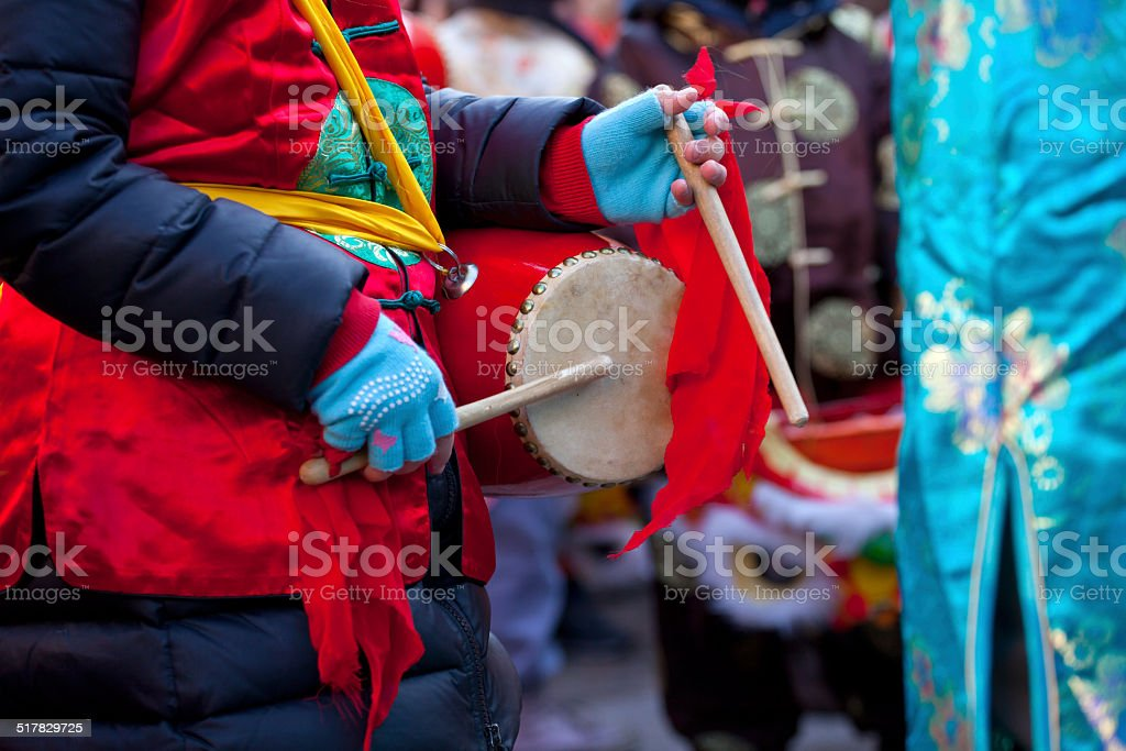 Chinese New Year parade in Milan stock photo