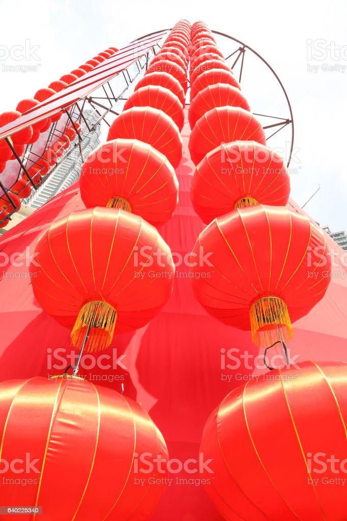 Chinese New Year red lantern stock photo