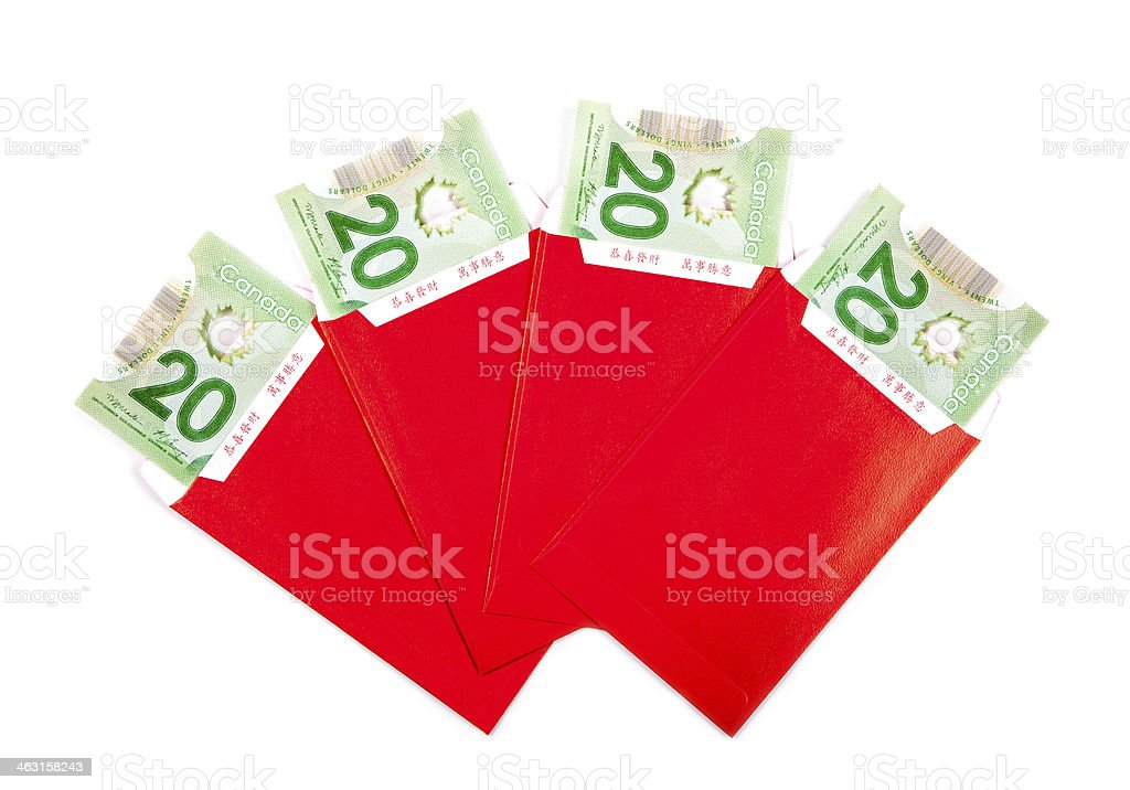 Chinese New Year Red Packets stock photo