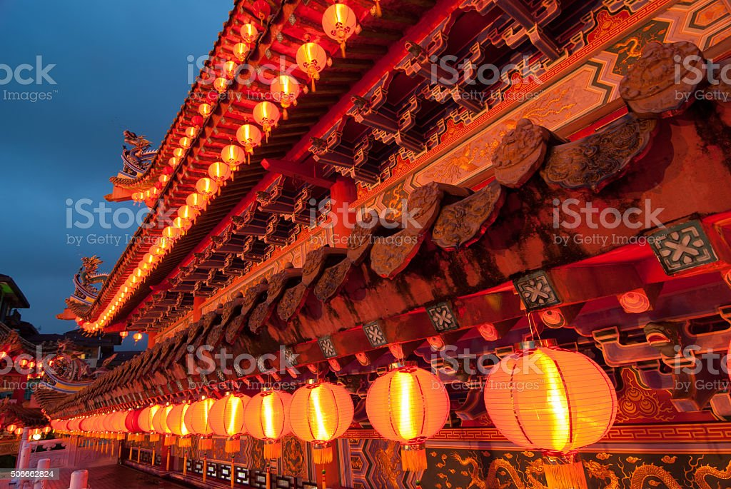 chinese new year temple stock photo