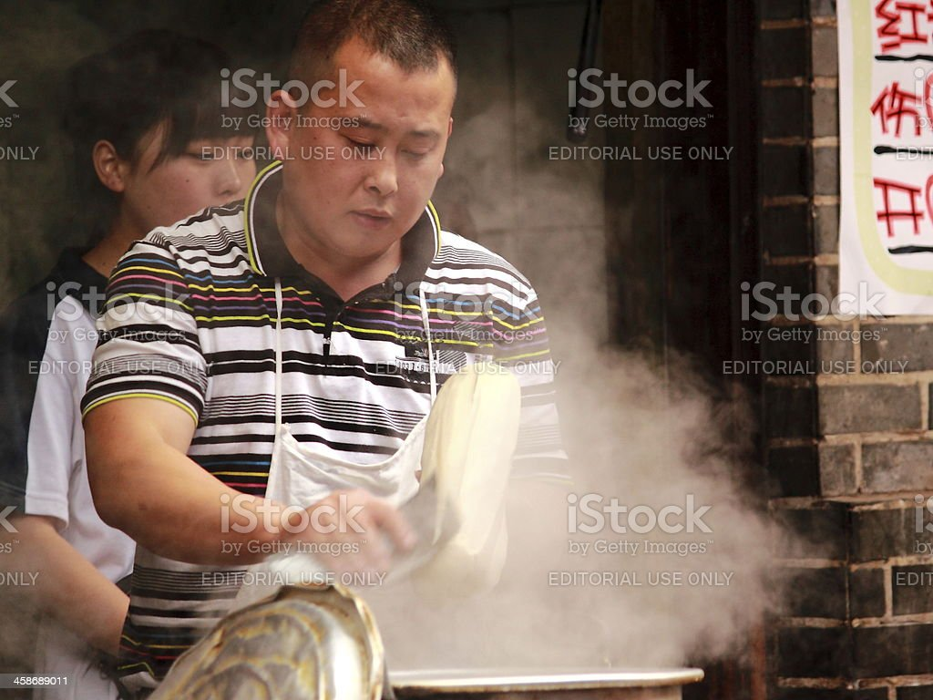 Chinese noodles in Luodai Chengdu China royalty-free stock photo