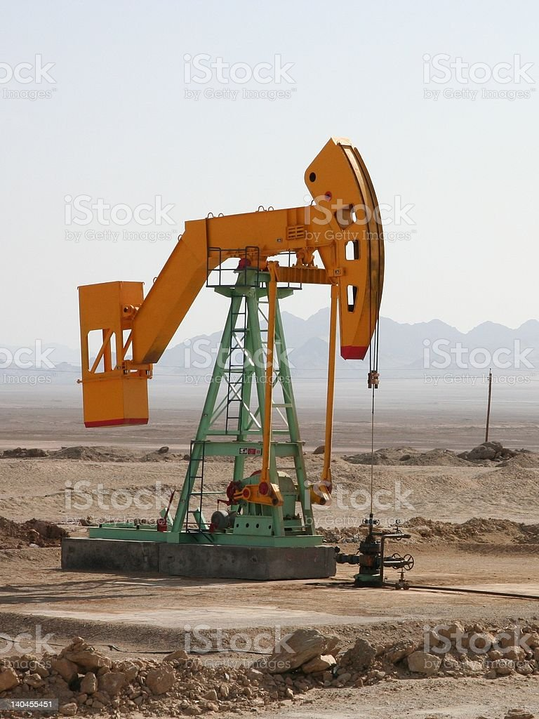 Chinese oil well royalty-free stock photo