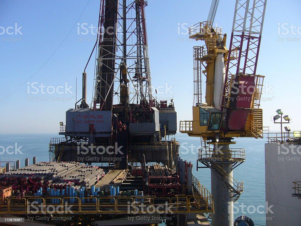 Chinese Oilrig stock photo