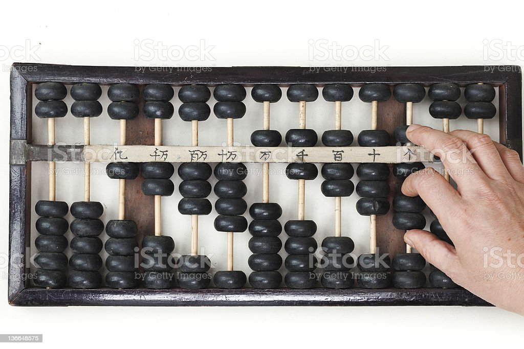 chinese old abacus royalty-free stock photo