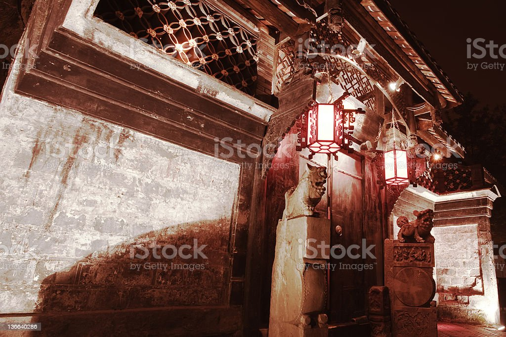 chinese old door royalty-free stock photo